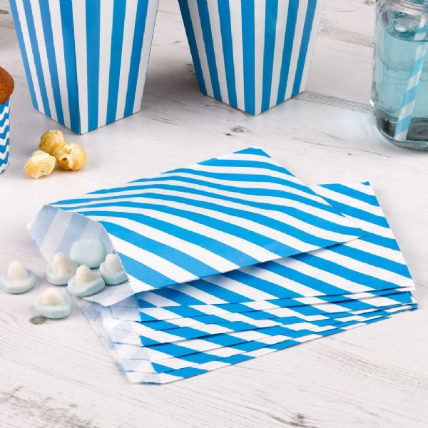 Carnival Blue Sweet Bags - Stripes (25)